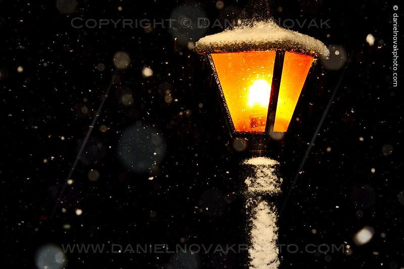 Lamp in Snow, It's Coming to Buffalo! (DTA_8898)