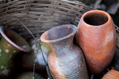 Old clay pottery at koh kret island Thailand (Aumza2529) Tags: old brown white art texture beautiful ceramic creativity artist artistic handmade bangkok crafts traditional culture potter craft stack made pot clay pottery shape artisan sculptor earthenware earthen kohkret