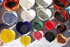 Loving Cups (skipmoore) Tags: ceramic hearts sanrafaelfarmersmarket