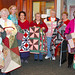 Lap quilts. Some of the 47 lap quilts made and donated by The Calico stitchers, one for each patient at the Massena Memorial Hospital Dialysis Center.