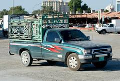 Old Toyota (Osdu) Tags: world travel tourism car market transport uae toyota fishmarket sharjah unitedarabemirates
