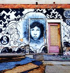 intense (ekelly80) Tags: winter streetart art abandoned face graffiti intense mural michigan detroit boardedup december2013