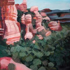 fay canyon (EllenJo) Tags: art painting artwork scenery january sedona nationalforest northernarizona 10x10 2014 landscapeart redrockcountry acryliconcanvas sedonaart faycanyon ellenjo arizonaart ellenjoroberts ellenjdroberts january2014 forjunipineshow
