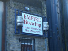 EMPIRE BREWING (Angjon33) Tags: dog man beer brewing real one canal is drink ale commercial empire his operation the slaithwaite