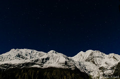 Annapurna III (7555m) y Gangapurna (7455m) - Nepal (hunter of moments) Tags: travel viaje nepal light sky naturaleza mountain black color art blanco luz nature colors beauty night way landscape lights luces noche reflex agua nikon camino natural nieve negro natura colores bosque cielo nubes nocturna montaa nube belleza reflejos jungla beautifulphoto warter d7000 potd:country=es
