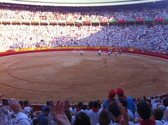 "San Fermín Plaza Toros Bull Ring 11 <a style=""margin-left:10px; font-size:0.8em;"" href=""http://www.flickr.com/photos/116167095@N07/12269808643/"" target=""_blank"">@flickr</a>"