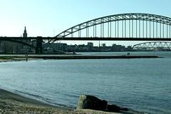 Waalbruggen (ohank1951) Tags: bridge netherlands nijmegen nederland brug brcke paysbas waal gelderland ooijpolder waalbrug spoorbrug nimwegen