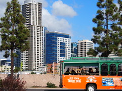 Old Town Trolley Tours (El Trinidad) Tags: california usa building architecture clouds sandiego bluesky olympus ep2 olympusep2 eltrinidad