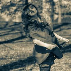 CC (Giuseppe Orrú) Tags: park red portrait italy tree nature girl fashion square torino blog model eyes nikon bokeh greeneyes piemonte hood lipstick turin redridinghood cheapischic