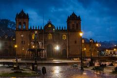 Plaza de Armas in the rain (pat.ch) Tags: plaza city mountain storm peru rain inca cuzco del america la place mayor cusco armas south capital centro pluie catedral center du latin andes latina orage sud perou historico amerique
