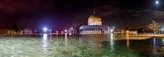 dome of rock (Djadaniell) Tags: travel panorama moon night landscape israel worship view palestine jerusalem mosque panoramic muslimquarter alaqsa alquds dija mountofolive baitulmaqdis