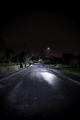 Night Time Street (Jacob Cross Photography) Tags: road street light sky tarmac night clouds nikon long exposure time country bin pollution lane d800