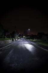 Night Time Street (Jacob Cross Photography) Tags: road street light sky tarmac night clouds nikon long exposure time country bin pollution lane d800