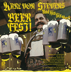 Beer Fest! (Jim Ed Blanchard) Tags: beer strange vintage germany weird store funny album von stevens vinyl kitsch novelty jacket thrift cover german ugly mug record karl mustache fest stein sleeve kooky