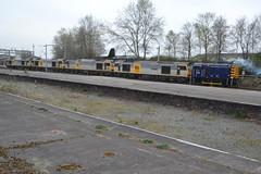 Riviera Trains Class 08 08507 with Class 60s - Crewe (dwb transport photos) Tags: diesel railway crewe locomotive tug shunter 60028 60056 60055 60082 rivierstrains