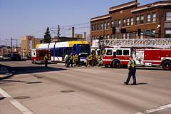 Green Line Crash Drill 5 (HOARYHEAD) Tags: minnesota accident stpaul lightrail saintpaul greenline universityave stpaulmn mockaccident raymondave nikond700 nikon28300mm greenlinecrashdrill universityandraymond