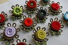 """Small boutonnieres... these are about 1 1/2"""" wide. (woolly  fabulous) Tags: wedding flower pin brooch felt zipper groomsmen boutonniere"""