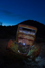 Painted by Light (Jeffrey Sullivan) Tags: park old light copyright abandoned jeff night truck canon painting photography death nationalpark twilight antique mark iii rusty national valley april 5d deathvalley sullivan 2014