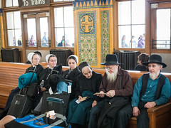 Amish Travels (HijoDMaite) Tags: city travel santafe train sandiego streetphotography beards amish trainstation