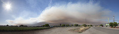 2015-07-22 panorama of Wragg Fire seen from Dixon (Robert Couse-Baker) Tags: sky panorama northerncalifornia smoke dixon 365 solano wildfire lakeberryessa 2015 solanocounty 3652015imstillstanding wraggfire invaldtag