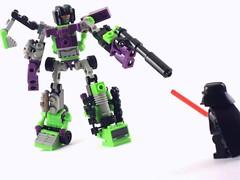 Vader vs Devastator (MrKjito) Tags: star lego bricks lord darth vs wars vader faceoff sith beheaded defeated devastator kreo kreon