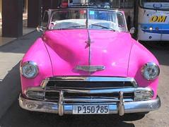 Cuban taxi (mujepa) Tags: pink classic chevrolet car automobile taxi havana cuba convertible voiture chevy décapotable lahavane