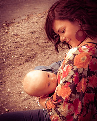 snacktime (vcalphoto) Tags: autumn baby breastfeeding child infant natural nursing outdoors softlight woman womanbreastfeeding