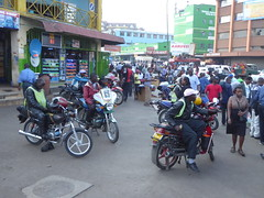 Boda bodas ready for business (prondis_in_kenya) Tags: kenya nairobi hotdryseason bodaboda motorcycle pedestrian