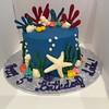 196 (devbydylan) Tags: cake birthday nautical ocean sea reef shells starfish