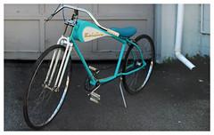 Bel Air (daveelmore) Tags: belair bike bicycle custom blue stitchedpanorama manualfocus legacylens penfm43adapter hzuiko42mm112 imagination playoutside ride