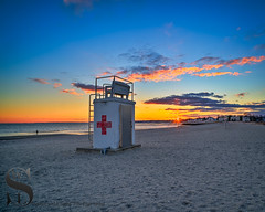 Life Guard tower on Gulf Beach (Singing With Light) Tags: 2016 2017 26th alpha6500 ct duckpond february gulfbeach milford mirrorless singingwithlight a6500 beach downtown photography singingwithlightphotography sony sunrise winter