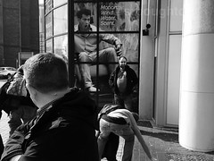 Omg what has she... (simonboughton) Tags: welshlife candidstreet funny peopleoftheworld streetphotographer streetlife candid unposed people omg cardiff phonetography bnwstreet city urbanlife srbph street streetphotography