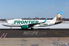 Frontier Airlines Airbus A320-214 - N227FR (AeroPX) Tags: aeropx airbusa320 caryliao ewing frontierairlines grizwaldthebear kttn n227fr nj newjersey ttn trentonmercercountyairport