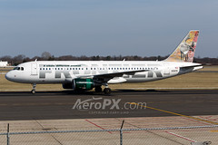 Frontier Airlines Airbus A320-214 - N201FR (AeroPX) Tags: aeropx airbusa320 caryliao ewing frontierairlines kttn n201fr nj newjersey ttn trentonmercercountyairport yukonthecaribou