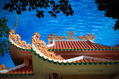 Pagoda Architecture on Blue Cloudy Sky