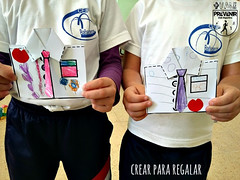 Tarjeta para el Día de los Padres en forma de camisa (Mónica Santana) Tags: manualidadesparaniños manualidades