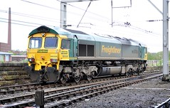 66 506 Crewe Regeneration, at Carlisle. (Raymondo166) Tags: up train gm diesel 66 class crewe depot locomotive pick 506 heading carlisle departing regeneration freightliner kingmoor