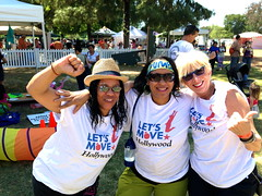 Teira, Michelle & Crickett representing Michelle Obama`s LET`S MOVE Hollywood at EARTH DAY Fair 2013 (Dion Jackson) Tags: earthday crickett letsmove michelleobama kidsexercise dionjackson letsmoveorg letsmovehollywood