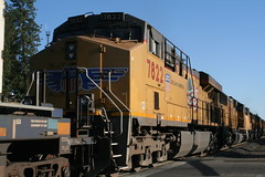 Union Pacific #7822 (GE ES44AC) in Colfax, CA (CaliforniaRailfan101 Photography) Tags: up amtrak unionpacific priority ge freight bnsf reefer manifest emd californiazephyr burlingtonnorthernsantafe dash9 dpu es44dc gevo sd70m amtk c449w stacktrain sd70ace es44ac colfaxca c45accte p42dc trackagerights es44c4 tietrain sd59mx unitreefer zdlsk trainsincolfaxca