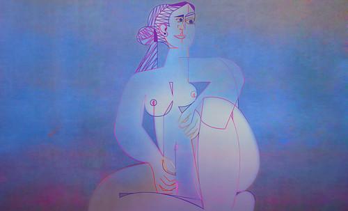 "Mujer Sentada, geometrización de Pablo Picasso (1953), abstracción de Roberto Real de León (2013). • <a style=""font-size:0.8em;"" href=""http://www.flickr.com/photos/30735181@N00/8815903284/"" target=""_blank"">View on Flickr</a>"