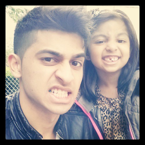 Got into a fight with Maha and broke her tooth :) #hussainasif #hussain #dhoombros