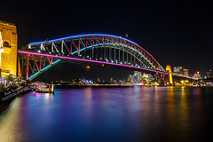 Vivid Sydney 2013 - Harbour Bridge (labtamg) Tags: park bridge giant point harbour coat sydney vivid luna hanger milsons colourfull 2013