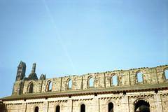 Kirkstall Abbey (Saturated Imagery) Tags: film 35mm iso200 leeds vintagecamera kirkstallabbey konicac35efp ferraniasolaris200 epsonv500 agphotographic photoshopelements9