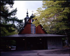 Church in Modern Architecture (Vincentli*) Tags: film japan mediumformat scenery 120format 120film  fujifilm analogue 6x7 karuizawa  filmphotography gf670