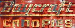 Baycraft (Jeff M Photography) Tags: usa sign oregon nikon rust paint letters faded signage nikkor 18200 corrosion canopies d7100 baycraft