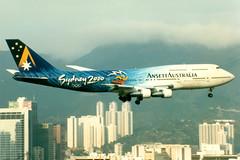 Ansett Australia | Boeing 747-300 | VH-INJ | Sydney 2000 livery | Hong Kong Kai Tak (Dennis HKG) Tags: plane airplane hongkong airport aircraft australia boeing boeing747 hkg 747 aaa kaitak planespotting ansett 747300 boeing747300 vhinj vhhh vhhx