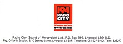 Radio City Letterhead 1977
