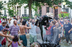 Dance Party in the Fountain (Dave Fine) Tags: park party music dance concert crowd livemusic maryland baltimore foutain mtvernon firstthursday outdoormusic wtmd