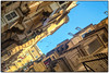 191/365 Schräge Gasse ([RAW]) Tags: alley bluesky malta tilted valetta bowfront explored