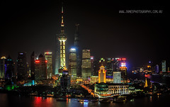 Shanghai Bund Night Scene (James Yu Photography) Tags: shanghai 5 hyatt years another vue bund